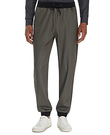 Tallia Men's Tapered Stretch Striped Joggers