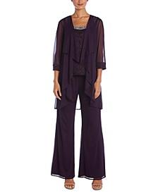 3-Pc. Embellished Pantsuit
