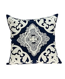 Rani Traditional Blue Pillow Cover With Down Insert