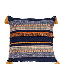 Skye Bohemian Multicolor Pillow Cover with Polyester Insert
