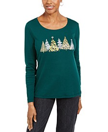 Sparkle Holiday Graphic Shirt, Created For Macy's
