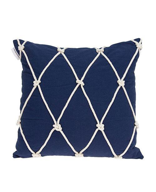 Parkland Collection Oceana Nautical Blue Pillow Cover