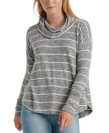 Striped Cowl-Neck Top
