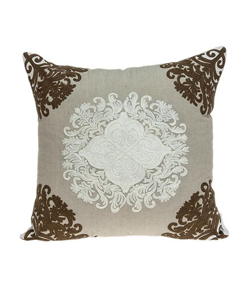 Parkland Collection Pilar Traditional Beige Pillow Cover