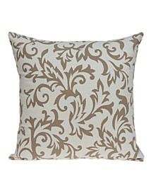 Cairo Transitional Beige Pillow Cover With Down Insert