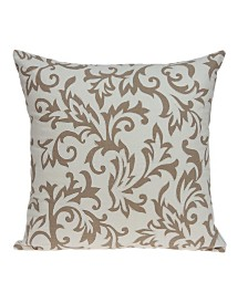 Parkland Collection Cairo Transitional Beige Pillow Cover With Down Insert
