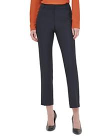 Calvin Klein Twill Slim-Leg Pants