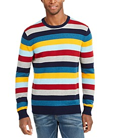 Men's Regular-Fit Multi-Stripe Sweater, Created For Macy's