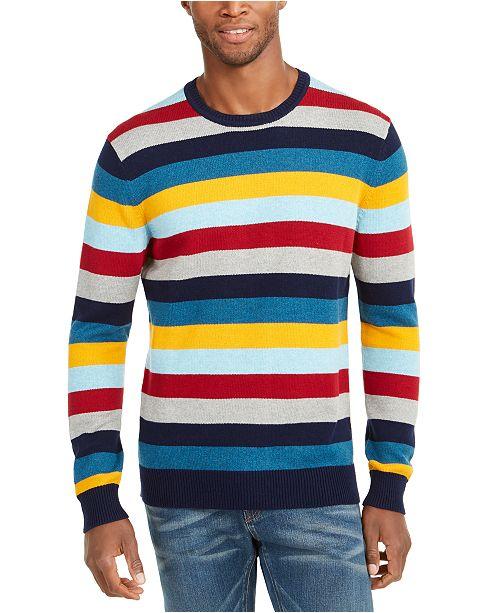 Club Room Men's Regular-Fit Multi-Stripe Sweater, Created For Macy's