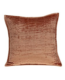 Delphi Transitional Orange Solid Quilted Pillow Cover