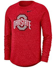 Men's Ohio State Buckeyes Marled Long Sleeve Raglan T-Shirt
