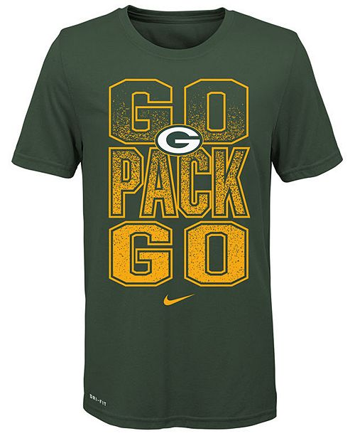 Nike Big Boys Green Bay Packers Local Verbiage T-Shirt