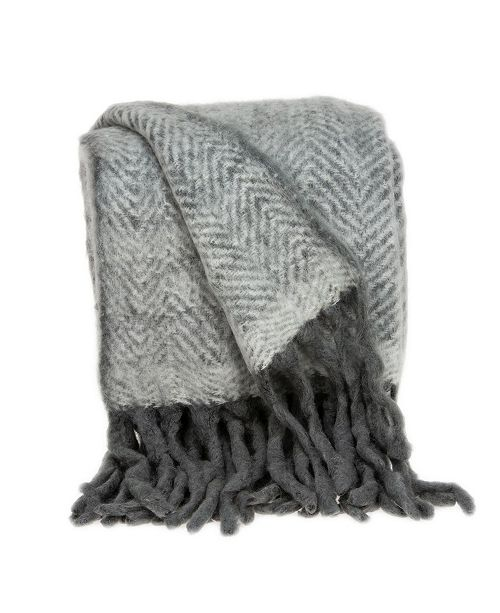 Parkland Collection Nagar Transitional Handloomed Mohair Throw