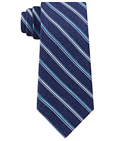 Men's Satin Asymmetric Weft Stripe Tie
