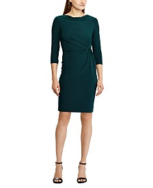 Lauren Ralph Lauren Petite Twisted-Knot Jersey Dress