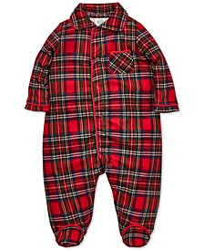 Baby Boys Plaid Footed Coverall