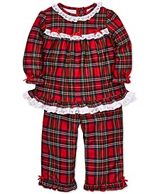 Baby Girls 2-Pc. Plaid Pajama Set