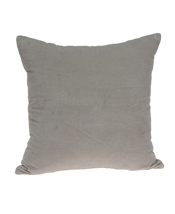 Parkland Collection Emma Transitional Grey Solid Pillow Cover with Polyester Insert