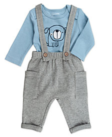 Mac & Moon Baby Boy 2-Piece Bodysuit and Overall Outfit Set