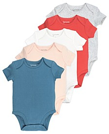 Baby Girl 5-Pack Short Sleeve Bodysuits