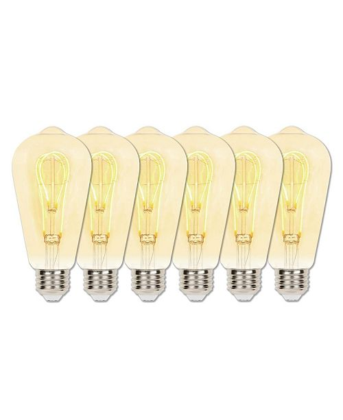 Westinghouse Lighting 5-Watt (25-Watt Equivalent) Amber ST20 Dimmable Flexible Filament LED Light Bulb with Medium Base, Pack of 6