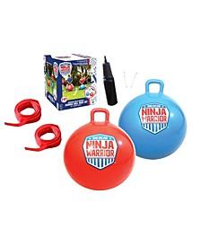 "American Ninja Warrior™ Bounce Ball Race Set With Two Jumbo 24"" Balls & Start/Finish Lines For Outdoor Play"