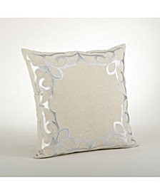 """Faux Leather Cutwork Throw Pillow, 18"""" x 18"""""""