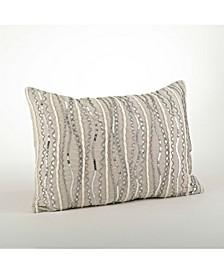 """Beaded Design Throw Pillow, 14"""" x 20"""""""