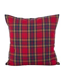 "Classic Tartan Plaid Pattern Holiday Cotton Throw Pillow, 20"" x 20"""