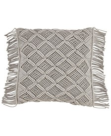 "Macrame Throw Pillow, 18"" x 18"""