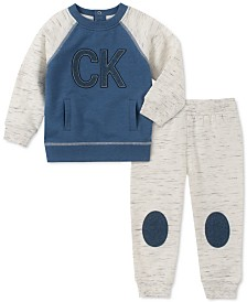 Calvin Klein Baby Boys 2-Pc. French Terry Colorblocked Sweatshirt & Jogger Pants Set