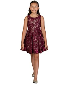 Big Girls Sequin Lace Skater Dress