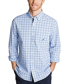 Men's Classic-Fit Stretch Plaid Poplin Shirt