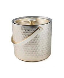 Champagne Gold Faceted Double Wall Ice Bucket