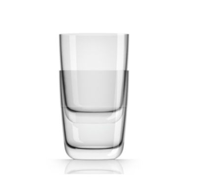 by Palm Tritan Forever-Unbreakable Clear Highball Tumbler non-slip base,  Set of 2