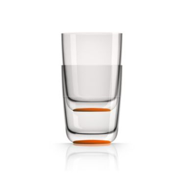 by Palm Tritan Forever-Unbreakable Highball Tumbler with Orange non-slip base, Set of 2