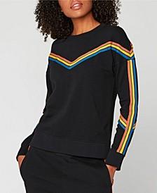 Striped Pullover Sweatshirt