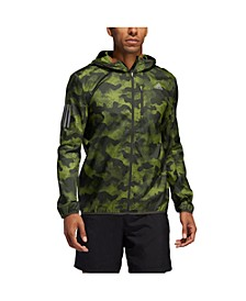 Men's Own the Run Camo Rain Jacket with Reflective Details