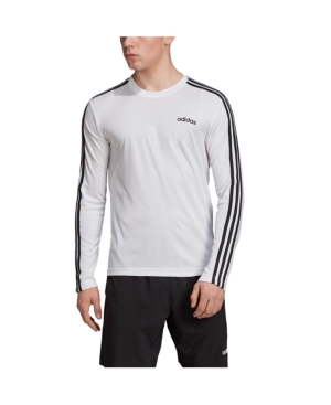 Adidas Originals Men's Essentials Long Sleeve Soccer T-Shirt In White
