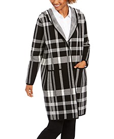 Plaid Coatigan Jacket, Created For Macy's