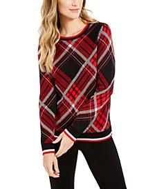 Plaid Crewneck Sweater
