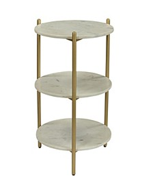 Neddie 3-Tier Accent Table, Quick Ship