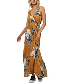 O'Neill Juniors' Floral-Print Maxi Dress