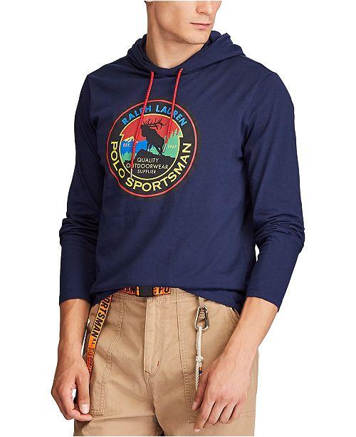 Polo Ralph Lauren Men's Big & Tall Hooded Jersey Sportsman T-Shirt