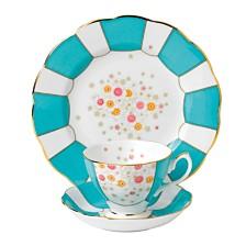 Royal Albert 100 Years 1930 3-Piece Set Teacup, Saucer & Plate  Mint Deco