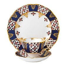 Royal Albert 100 Years 1900 3-Piece Set -Teacup, Saucer & Plate - Regency Blue