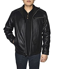 Retro Leather Men's Racing Jacket
