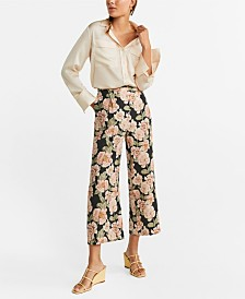 Mango Printed Culotte Trousers