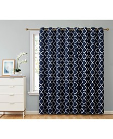 "Obscura By HLC.me Bunbury"" Lattice Print Blackout Grommet Patio Door Panel - 100"" W X 84"" L"