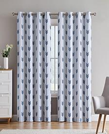 Obscura by Brisbane Print Blackout Grommet Curtain Panels - 52 W x 63 L - Set of 2